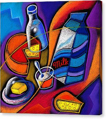 Cheese Canvas Print by Leon Zernitsky