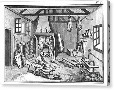 Cheese-making 18th Century Canvas Print by Granger