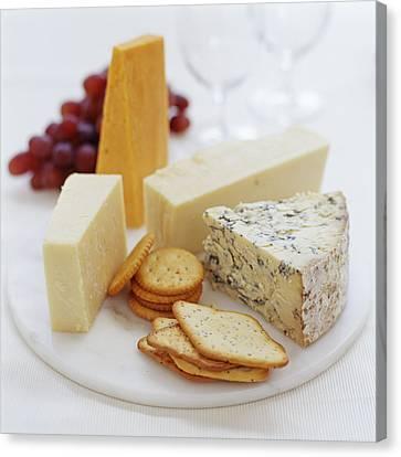 Cheese Selection Canvas Print by David Munns