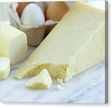 Cheeses And Eggs Canvas Print by David Munns