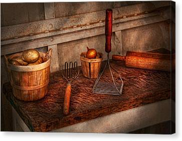 Chef - Food - Equipment For Making Latkes Canvas Print by Mike Savad
