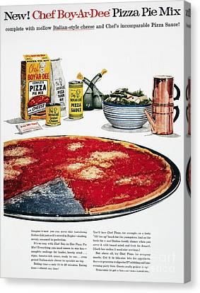 Chef Boyardee Ad, 1956 Canvas Print by Granger