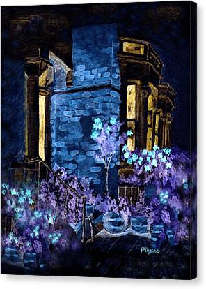 Chelsea Row At Night Canvas Print