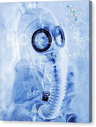 Chemical Warfare Canvas Print by Mehau Kulyk