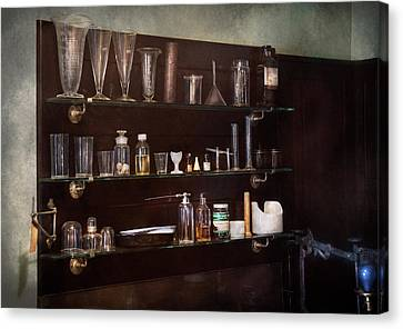 Chemist - The Scientist  Canvas Print by Mike Savad