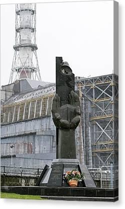 Chernobyl Power Station Monument Canvas Print by Ria Novosti