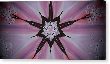 Cherry Blossom Kaleidoscope 2 Canvas Print by Heather  Hubb