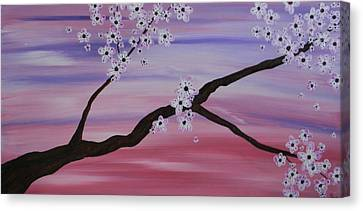 Cherry Blossoms At Sunrise Canvas Print by Heather  Hubb