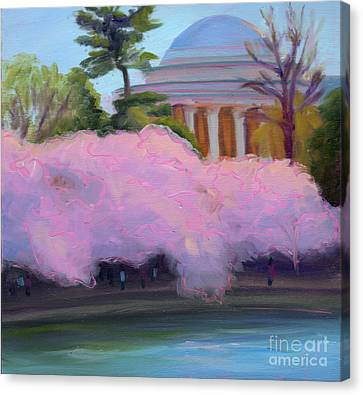 Cherry Blossoms In Afternoon Light Canvas Print by Julie Hart