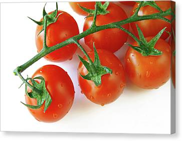 Nutrients Canvas Print - Cherry Tomatoes by Carlos Caetano