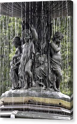 Cherub Bethesda Fountain  Canvas Print by Sarah McKoy