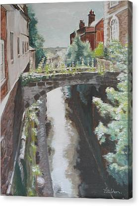 Chester Canal Canvas Print by Veronica Coulston