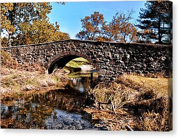 Chester County Bow Bridge Canvas Print by Bill Cannon