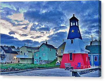 Cheticamp In Cape Breton Nova Scotia Canvas Print by Joe  Ng