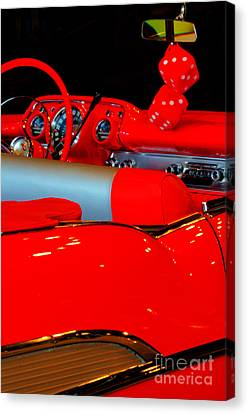 Red Chev Canvas Print - Chevrolet Beauty In Red by Bob Christopher
