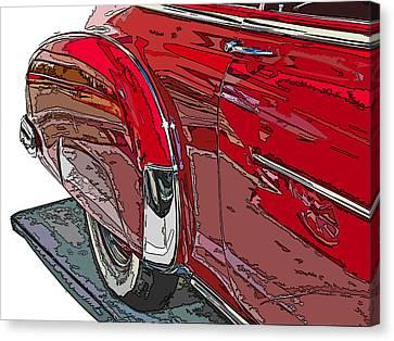 Chevrolet Fleetline Deluxe Rear Wheel Study Canvas Print by Samuel Sheats