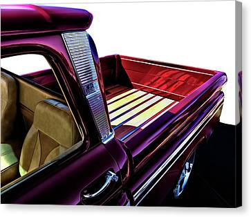 Custom Canvas Print - Chevy Custom Truckbed by Douglas Pittman