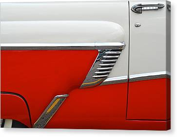 Chevy Door Canvas Print by Frozen in Time Fine Art Photography