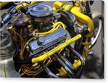 Chevy Motorcycle Canvas Print by David Lee Thompson