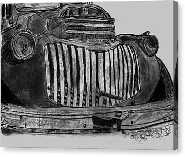 Chevy Truck Front End Canvas Print by Day Williams