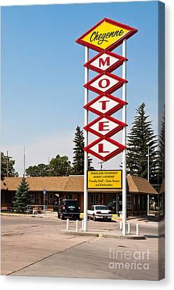 Cheyenne Motel Canvas Print