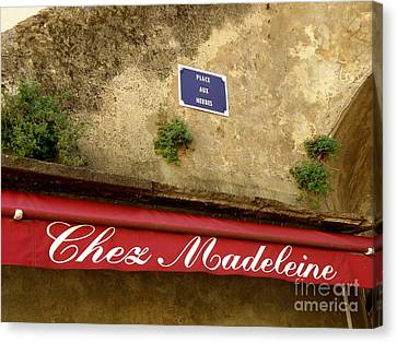 Chez Madeleine Canvas Print by Lainie Wrightson