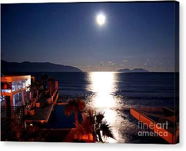 Silver Moonlight Canvas Print - Chiaro Di Luna by Alexandra Jordankova