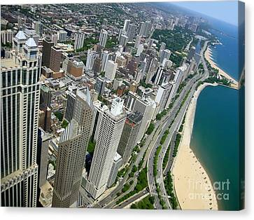 Chicago Aerial View Canvas Print by Sophie Vigneault