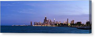 Sky Line Canvas Print - Chicago At Dusk by Twenty Two North Photography