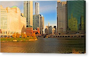 Chicago By Train Canvas Print