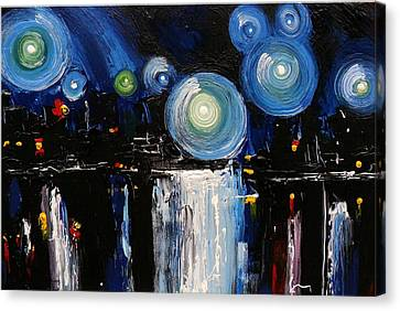 Chicago City Lights Canvas Print by Skye Taylor