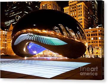 Chicago Cloud Gate Luminous Field Canvas Print