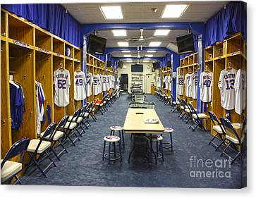 Dressing Room Canvas Print - Chicago Cubs Dressing Room by David Bearden