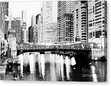 Chicago Downtown At Clark Street Bridge Canvas Print by Paul Velgos