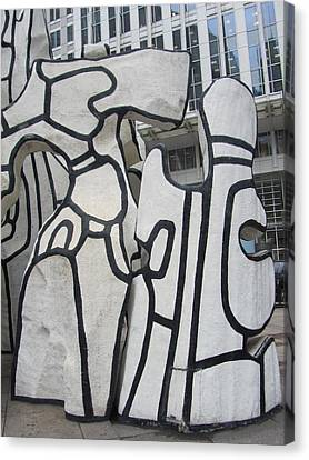 Chicago Dubuffet-2 Canvas Print by Todd Sherlock