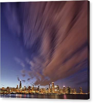 Chicago Evening 3 Canvas Print by Donald Schwartz