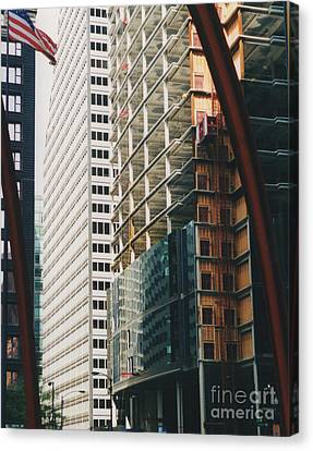 Chicago Geometry Canvas Print by First Star Art