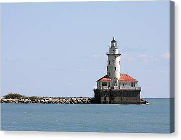 Chicago Harbor Light Canvas Print