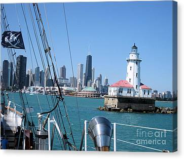 Chicago Harbor Lighthouse Canvas Print by Sonia Flores Ruiz