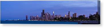 Sky Line Canvas Print - Chicago Illinois Panorama by Twenty Two North Photography