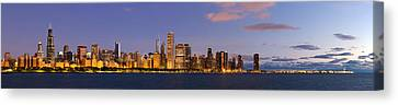 Sky Line Canvas Print - Chicago Illinois Skyline At Dawn by Twenty Two North Photography