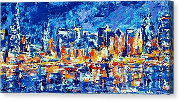 Chicago Lake Front Canvas Print by Kat Griffin