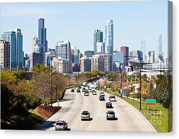 Chicago Lake Shore Drive Canvas Print by Paul Velgos