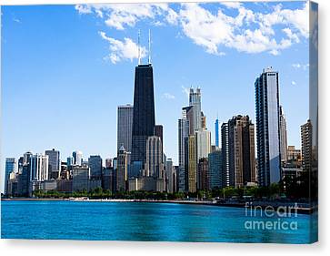 Chicago Lakefront With John Hancock Building Canvas Print by Paul Velgos