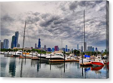 Chicago N Sails Canvas Print by Emily Stauring