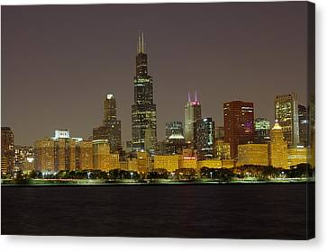 Chicago Night Skyline Canvas Print