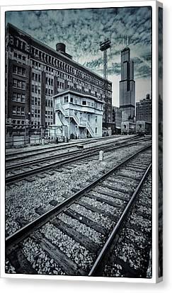 Chicago Rail Station Canvas Print by Donald Schwartz