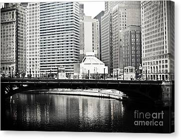 Chicago River Canvas Print - Chicago River Architecture by Paul Velgos