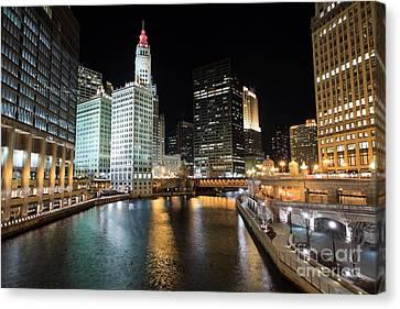 Chicago River Canvas Print - Chicago River At Michigan Avenue Bridge by Paul Velgos