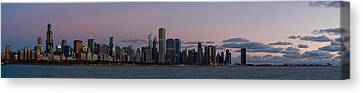 Chicago Skyline At Sunrise Canvas Print by Twenty Two North Photography